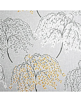 Oriental Tree Ochre & Grey Wallpaper