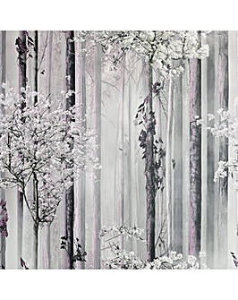 Blossom Forest Dusky Pink Wallpaper