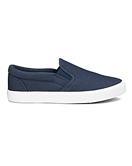 Pia Canvas Slip On Extra Wide EEE Fit
