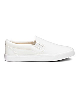 Pia Canvas Slip On Wide Fit
