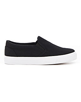 Pia Canvas Slip On Wide E Fit