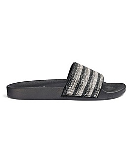 Maddox Diamante Slides Wide Fit