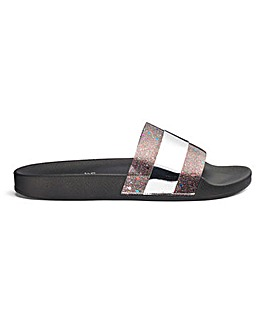 Tallie Perspex Slides Wide Fit