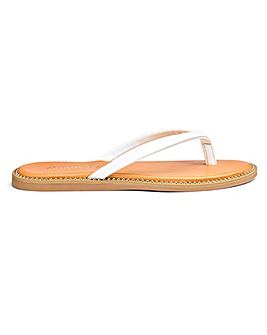 Zenda Studded Sole Flip Flop Wide E Fit