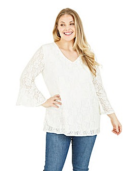 Mela London Curve Lace Blouse in Ivory