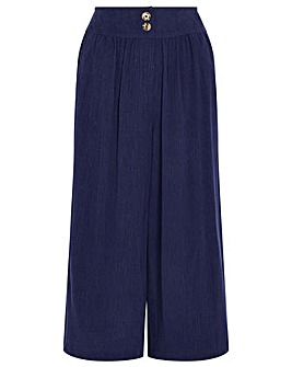 Monsoon Navy Tencel Crop Trouser