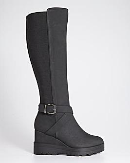 Wedge Boots Ex Wide Fit Ex Curvy Calf