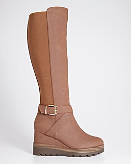 Wedge Boots Wide Fit Super Curvy