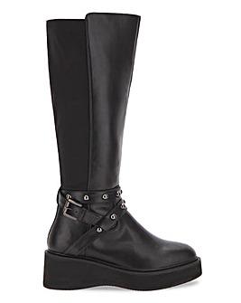 Madison High Leg Flatform Boots Wide Fit Super Curvy Calf