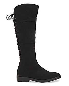 Zoey High Leg Boots Wide Fit Super Curvy Calf