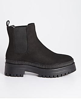 Roseanne Chunky Ankle Boots Extra Wide Fit