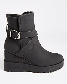 Wedge Ankle Boots Extra Wide Fit