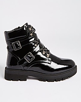 Alexandra Double Buckle Ankle Boots Wide Fit