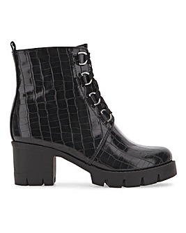 Lace Up Ankle Boots Wide Fit