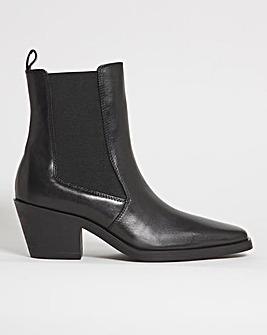 Amara Western Calf Boot Ex Wide Fit