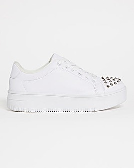 Stud Toe Cap Trainers Extra Wide Fit