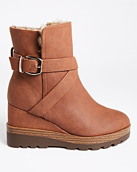 Emery Wedge Ankle Boots Extra Wide Fit