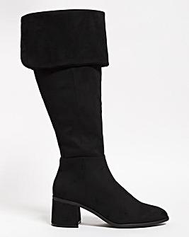 Benthley High Leg Boots Ex Wide Ex Curvy Plus