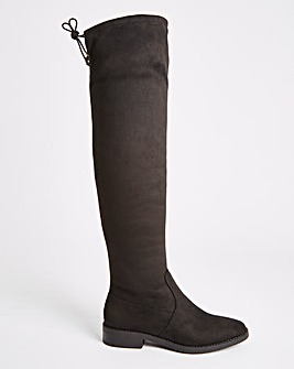 Alannah Over the Knee Boots Wide Fit Super Curvy
