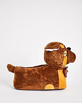 Brucie Novelty Dog Slippers