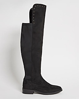 Mackenzie Over the Knee Stretch Boots ExWide Fit