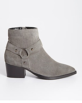 Harrow Western Ankle Boots Wide Fit