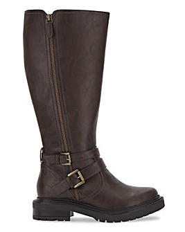 Hazel Knee High Wide Fit Extra Curvy Plus Calf