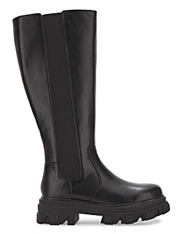Cleated Sole Boots Ex Wide