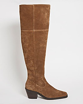 Mary Western Over the Knee Boot Wide Fit Super Curvy