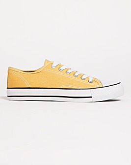 Stella Canvas Lace Up Trainers Wide Fit