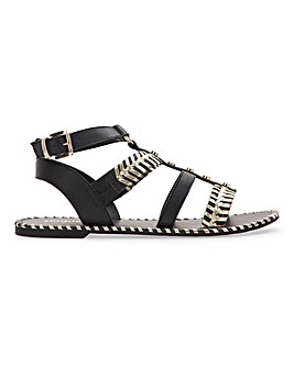 Milena Whipstitch Gladiator Sandal Wide Fit