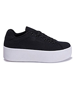 Chunky Lace Up Canvas Trainer Standard