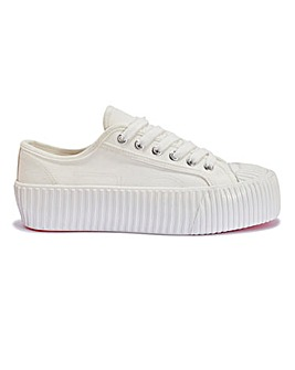 Chunky Lace Up Canvas Trainer