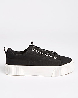 London Rubber Chunky Sole Trainers Ex Wide Fit