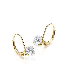 9Ct Gold Round Drop Earrings