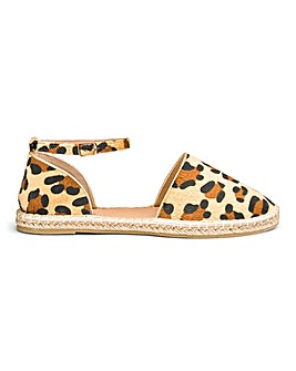 Dani Two Part Espadrille Extra Wide Fit
