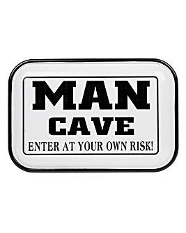 Man Cave Enamel Plaque