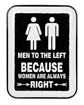 Women Enamel Plaque