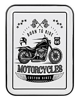 Motorbike Enamel Plaque