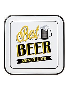 Best Beer Enamel Plaque