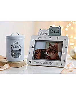 Cat Whiskers Treat Tin and Frame