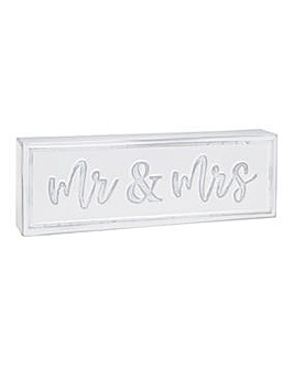 Mrs and Mrs Metal Plaque
