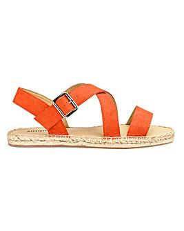 Fiona Strap Espadrille Sandal Wide Fit