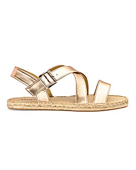 Fiona Espadrille Sandals Extra Wide Fit