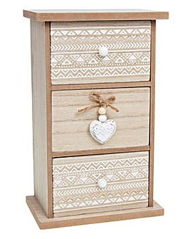Provence Aztec 3 Drawer Chest
