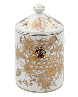 Honeycombe Bees Badge Candle Jar