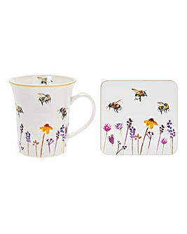 Busy Bees Mug and Coaster