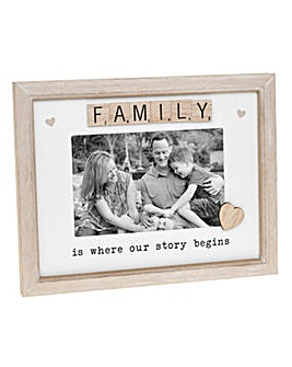 Scrabble Plaque Set Family