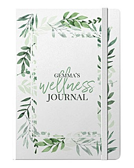 Personalised Floral Welness Journal