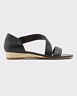 Aldo Moewen Leather Wedge Sandal S Fit